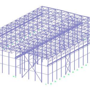 Проект склада из металлических конструкций
