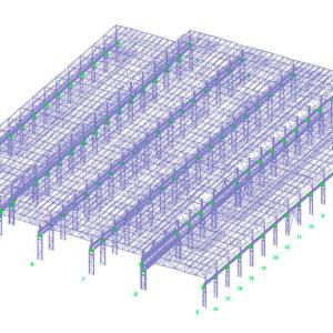 Проект быстровозводимого здания из металлоконструкций