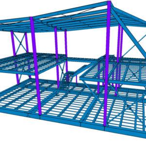 3d проектирование офиса продаж из металлоконструкций